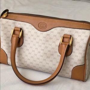 Vintage Gucci Purse , Cream & Brown